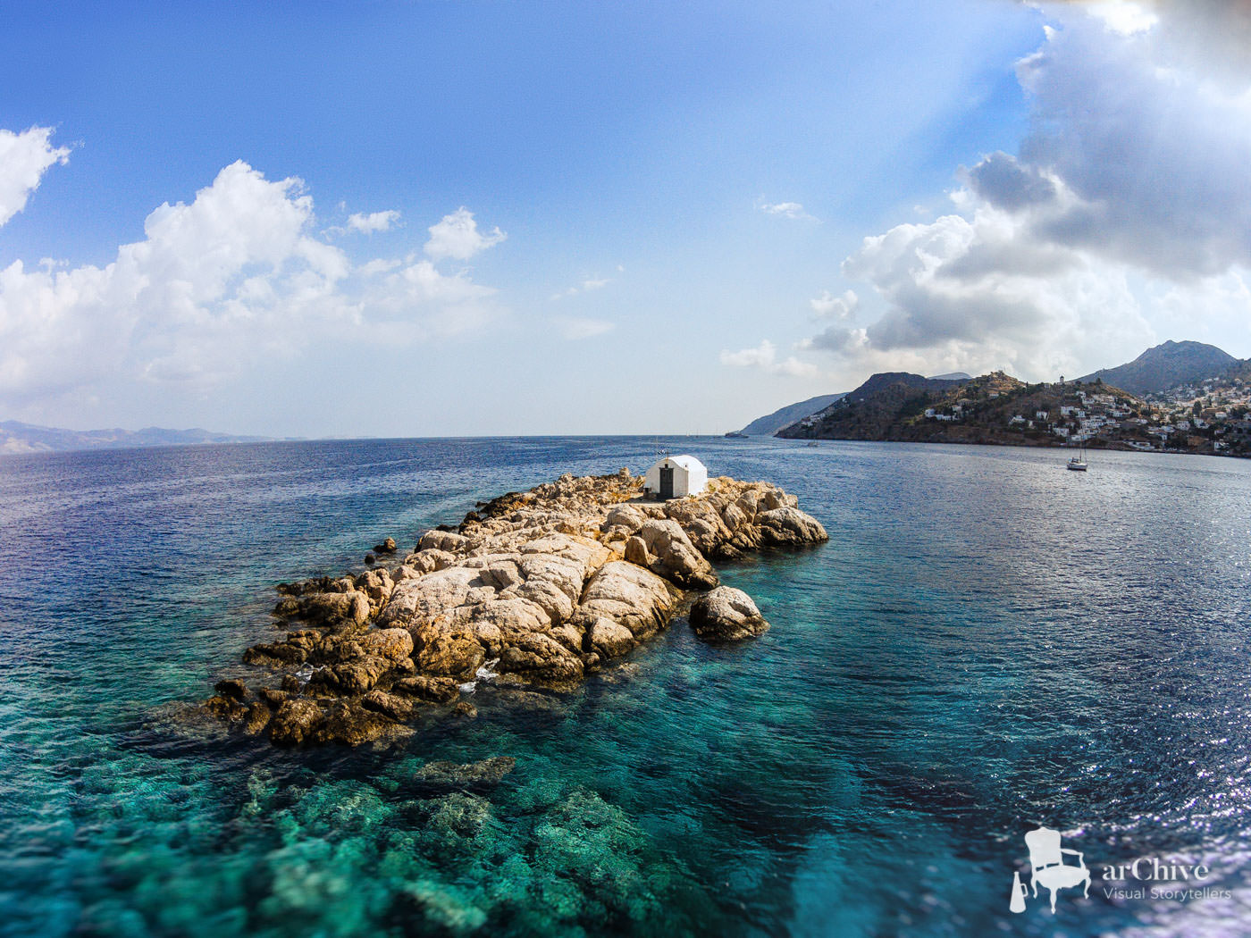 aerial wedding photography hydra