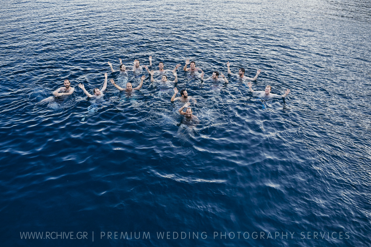aerial wedding photos greece