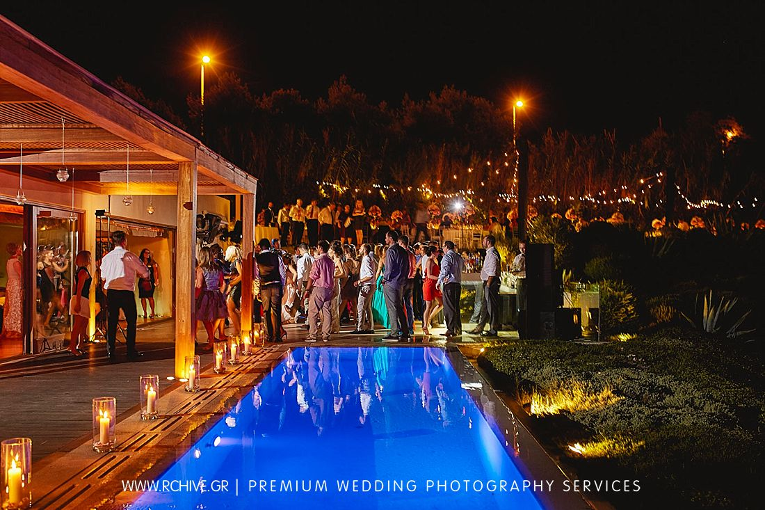 wedding reception island private house