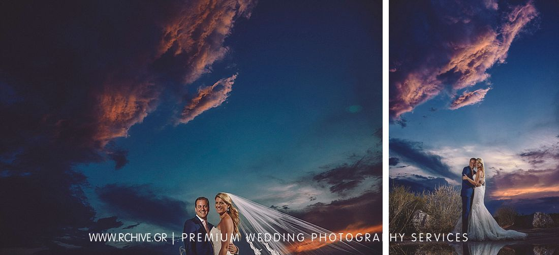 sunset day after wedding photography